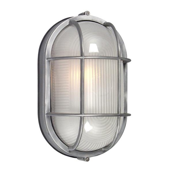 Galaxy Marine 11.125-in Satin Aluminum Frosted Glass Outdoor Wall Light