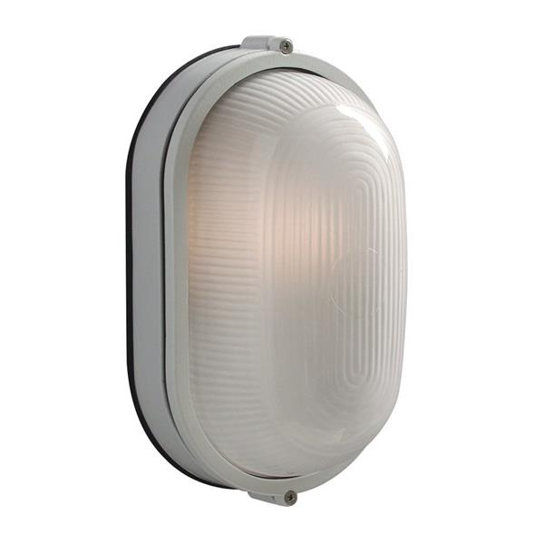 Galaxy Marine 11.125-in White Frosted Glass Outdoor Wall Light