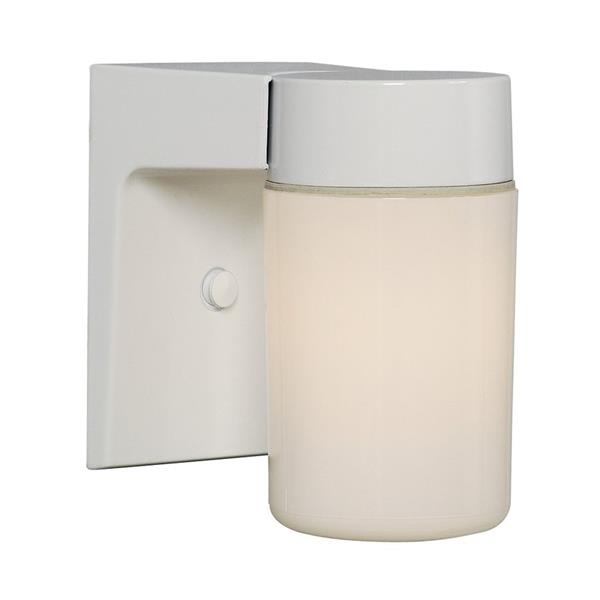 Galaxy 6.62-in White White Glass Outdoor Wall Light