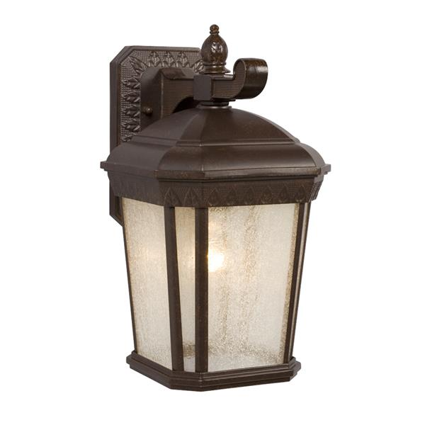 Galaxy 13-in Bronze Seeded Glass Outdoor Wall Light