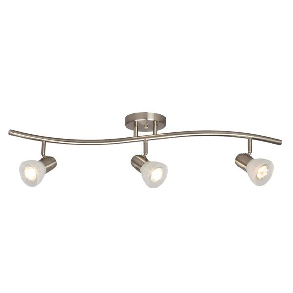 Galaxy Luna 31.5-in Brushed Nickel 3-Light Track Bar Fixed Track Light Kit