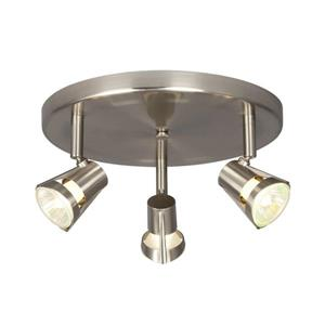 33Galaxy 10.125-in Brushed Nickel 3-Light Flush Mount Fixed Track Light Kit0012973