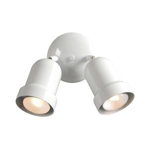 Galaxy Fixed Track 5-in White 2-Light Flush Mount Light Kit