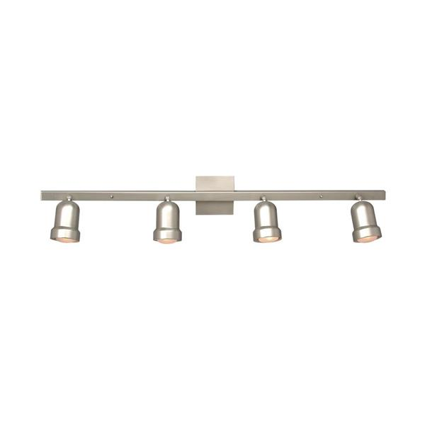 Galaxy Fixed Track 40-in Pewter 4-Light Track Bar Light Kit