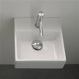 Nameeks Scarabeo Teorema White Wall-Mount Square Bathroom Sink