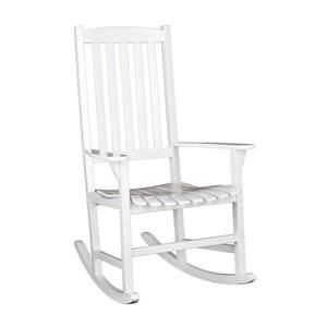 Boston Loft Furnishings Carolina White Eucalyptus Rocking Chair with Slat Seat