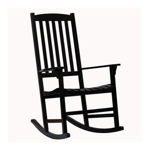 Boston Loft Furnishings Carolina Black Eucalyptus Rocking Chair with Slat Seat