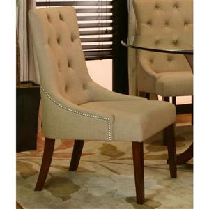 Sunset Trading Set of 2 Collette Casual Camel Tweed Microfiber Accent Chairs