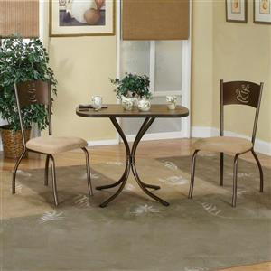 Sunset Trading Confetti Cappuccino Brown 3 Piece Dining Set