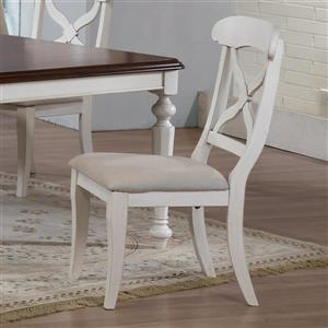 Sunset Trading Andrews 18.5-in Cream Side Chairs (Set of 2)