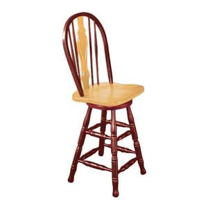 Sunset Trading Comfort Back Farmhouse 24-in Antiques Black Bar Stool