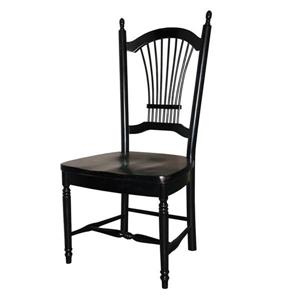Sunset Trading 18-in Antique Black Side Chairs (Set of 2)