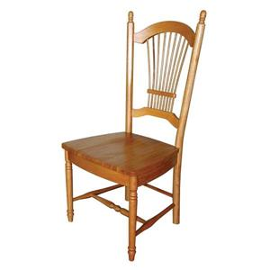 Sunset Trading 18-in Light Oak Side Chairs (Set of 2)