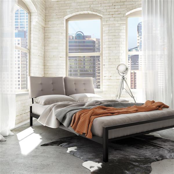 Amisco Delaney 3.7-ft x 5-ft Light Grey Queen Upholstered Headboard