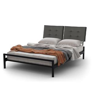 Amisco Delaney Textured Black Queen Platform Bed Frame
