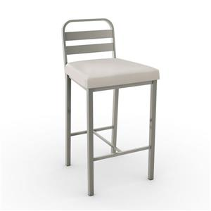 Amisco Alberto 30.13-in Matte Light Grey/Beige Bar Stool