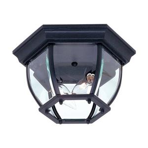 Artcraft Lighting Classico 10.75-in Black 2-Light Outdoor Flush Mount Light
