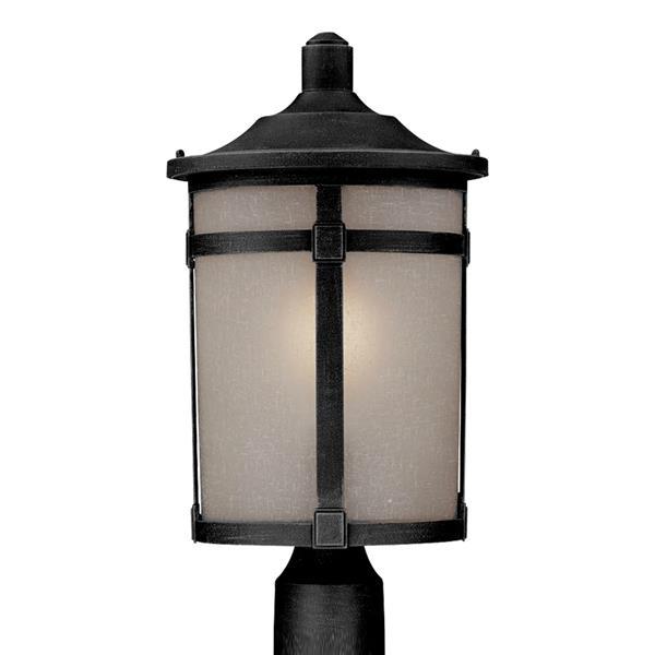 Artcraft Lighting St. Moritz 18.625-in H Rich Black Post Light