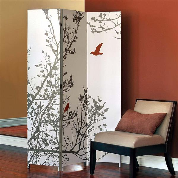 Nexxt Designs Bota Bird 5.11-ft x 3.11-ft Canvas Room Divider