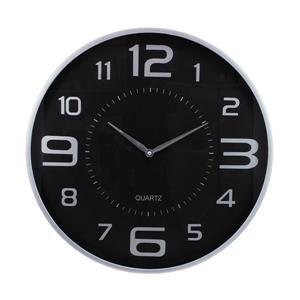 Kiera Grace 18-in Black Modern Wall Clock