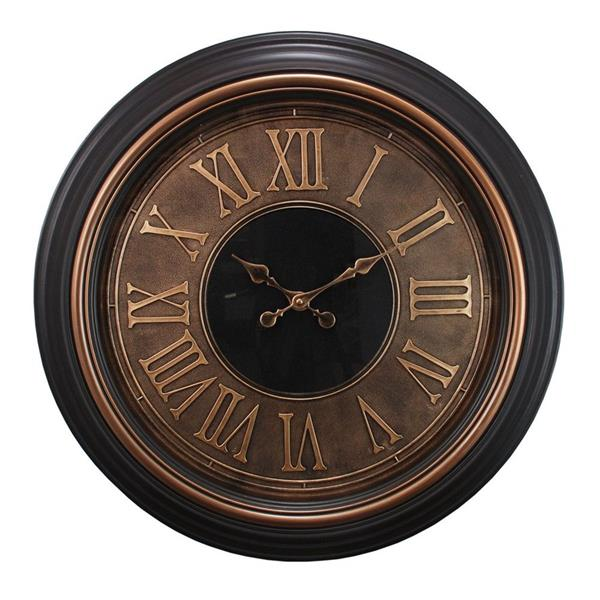 Nexxt Designs Kiera Grace 23-in Copper and Gold Wall Clock with Raised Roman Numerals