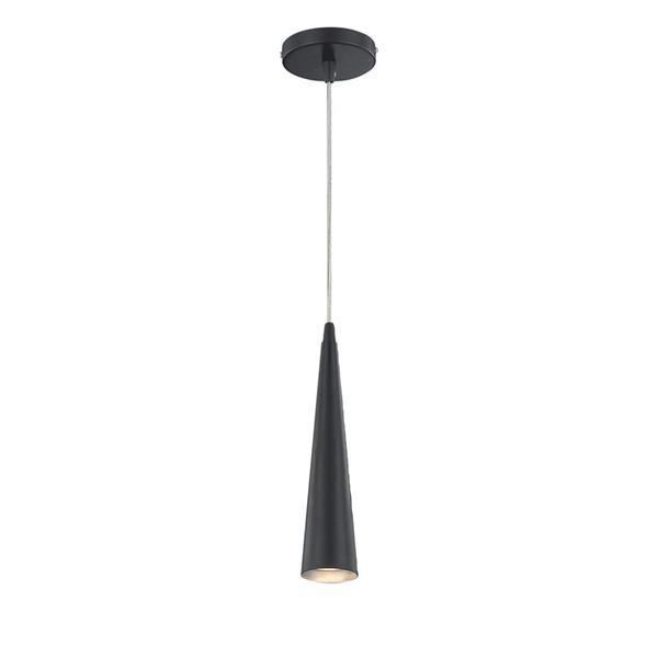 Eurofase Sliver 2.75-in x 12-in Black Modern Mini Cone Pendant