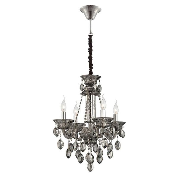Eurofase Venetian Collection 72-in Smoke 4-Light Traditional Candle Chandelier