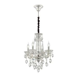 Eurofase Venetian Collection 72-in Clear 4-Light Traditional Candle Chandelier