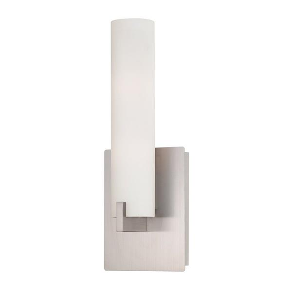 Eurofase Zuma 5.25-in W 1-Light Brushed Nickel  Arm Hardwired Standard Wall Sconce