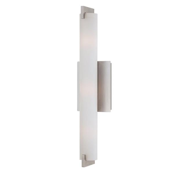 Eurofase Zuma 20.5-in W 1-Light Brushed Nickel  Arm Hardwired Standard Wall Sconce