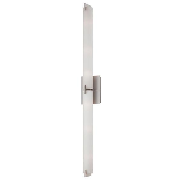 Eurofase Zuma 39.5-in W 1-Light Brushed Nickel  Arm Hardwired Standard Wall Sconce