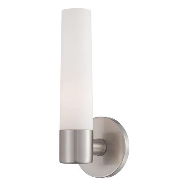 Eurofase Vesper 5-in W 1-Light Brushed Nickel  Arm Hardwired Standard Wall Sconce