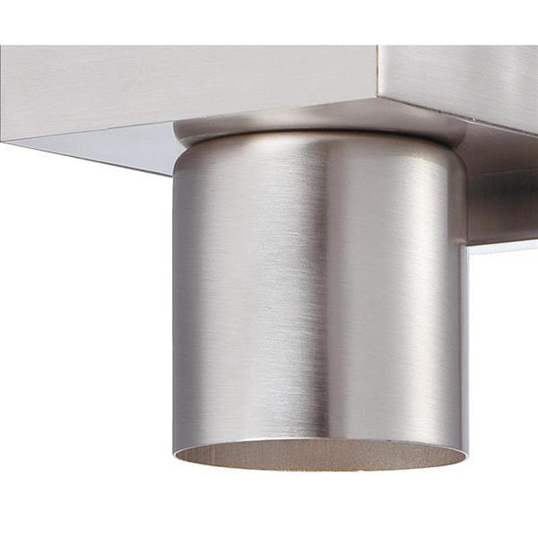 Eurofase Piller 20-in 6- Light Brushed Nickel Cylinder Vanity Light