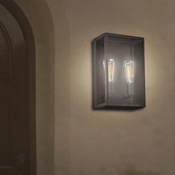 Eurofase Retto 8.5-in W 1-Light Bronze Vintage Pocket Hardwired Standard Wall Sconce