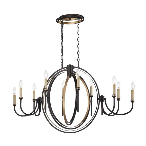 Eurofase Capri Colleciton 180-in Bronze 21-Light Transitional Tiered Chandelier