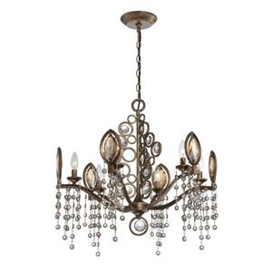 Eurofase Capri Collection 180-in Bronze 21-Light Transitional Tiered Chandelier