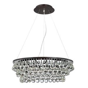 Eurofase Canto 28.5-in Oil Rubbed Bronze Clear Glass Traditional Waterfall 12-Light Chandelier Pendant