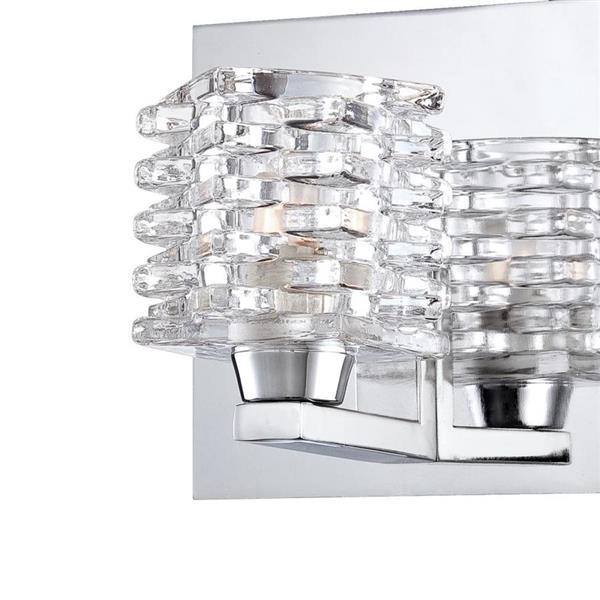 Eurofase Lenza 33.75-in 5- Light Chrome Vanity Light