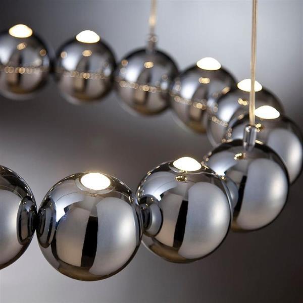 Eurofase Pearla 29-in Chrome Modern Multi-Light Globe LED Pendant