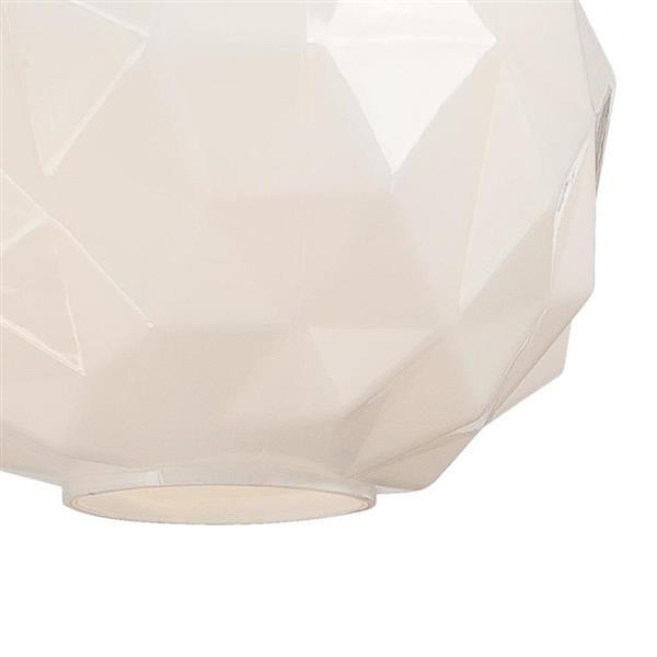 Eurofase Studio 11.75-in x 11.5-in Chrome Modern Textured Glass Globe Pendant