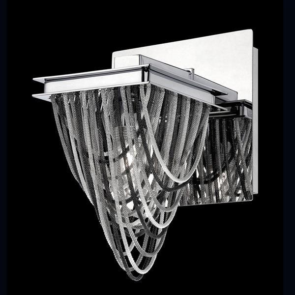 Eurofase Wasaga 5.5-in W 1-Light Chrome Arm Wall Sconce