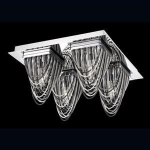 Eurofase Wasaga 13-in W Chrome Flush Mount Light