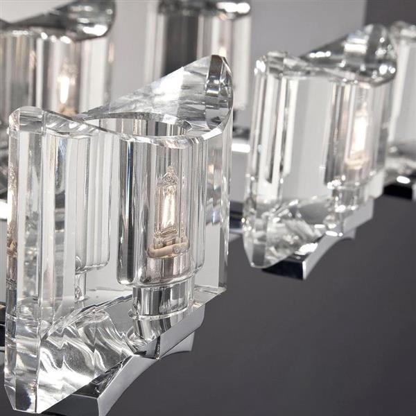 Eurofase Uzo 31.5-in 4- Light Chrome Geometric Vanity Light