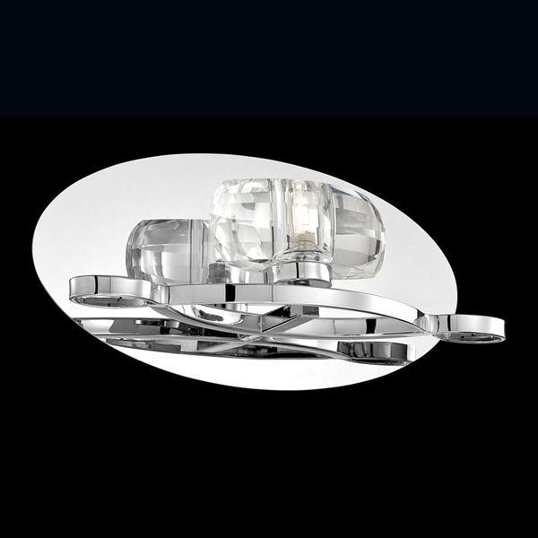 Eurofase Buca 11.75-in W 1-Light Chrome Arm Wall Sconce