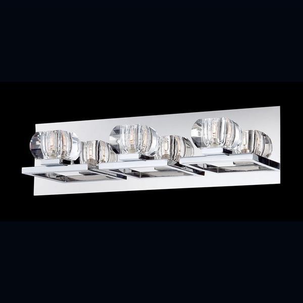 Eurofase Casa Chrome Bowl 3-Light Bathroom Vanity Light