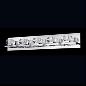 Eurofase Casa Chrome Bowl 5-Light Bathroom Vanity Light