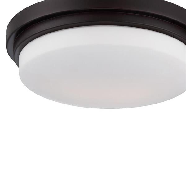 Eurofase Wilson 12.5-in W Bronze LED Flush Mount Light