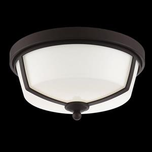 Eurofase Kate 12-in W Bronze LED Flush Mount Light