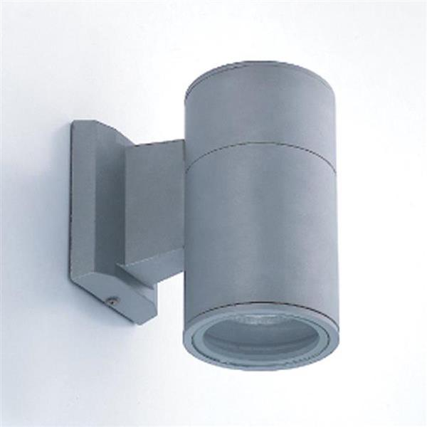 Eurofase 8-in Grey Round Outdoor Wall Light
