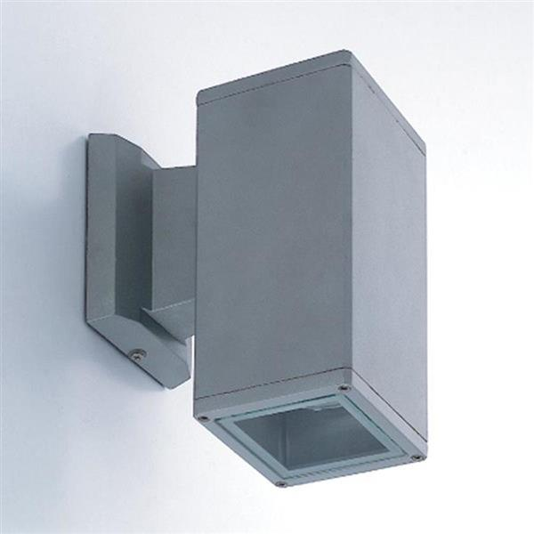 Eurofase 7.88-in Grey Square Outdoor Wall Light